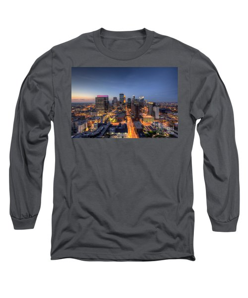 Minneapolis Skyline At Night Long Sleeve T-Shirt