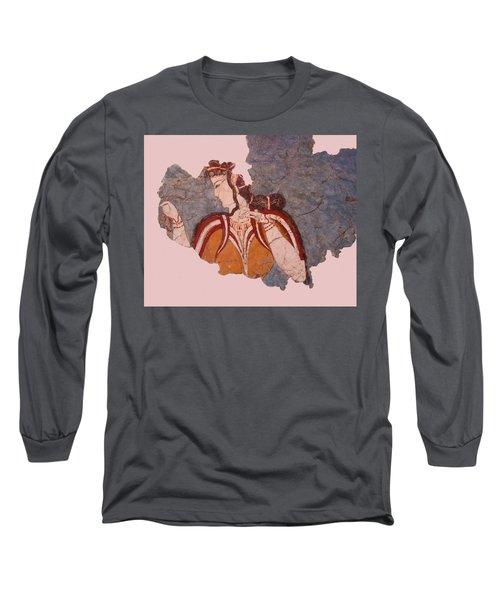 Minoan Wall Painting Long Sleeve T-Shirt
