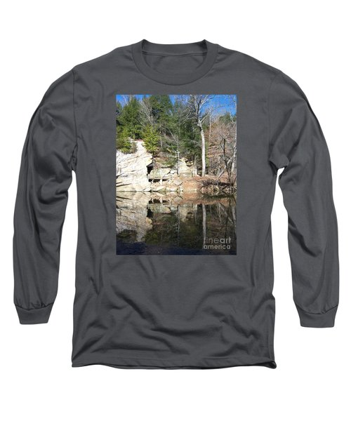 Long Sleeve T-Shirt featuring the photograph Sugar Creek Mirror by Pamela Clements