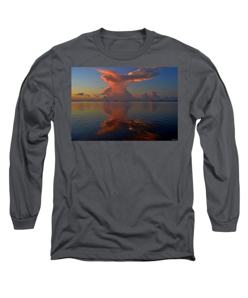 Mirrored Thunderstorm Over Navarre Beach At Sunrise On Sound Long Sleeve T-Shirt