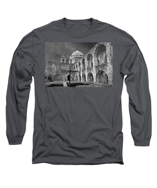 Mission San Jose Arches Bw Long Sleeve T-Shirt