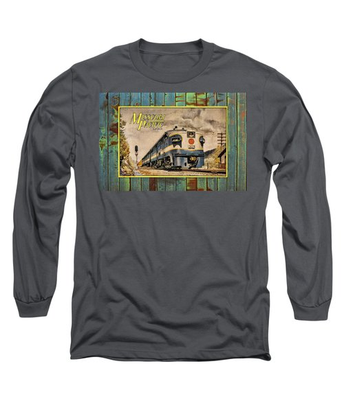 Missouri Pacific Lines Sign Engine 309 Dsc02854 Long Sleeve T-Shirt by Greg Kluempers