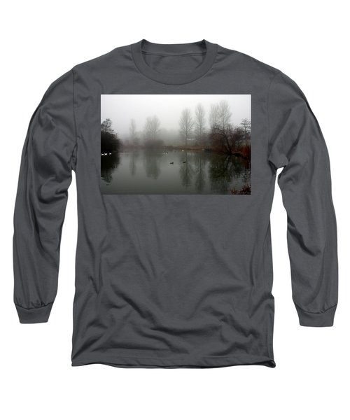 Misty Lake Reflections Long Sleeve T-Shirt