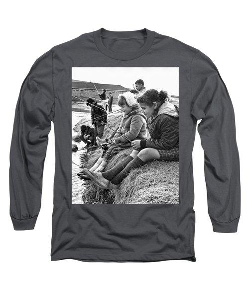 Mixed Ethnic Children Fishing Long Sleeve T-Shirt