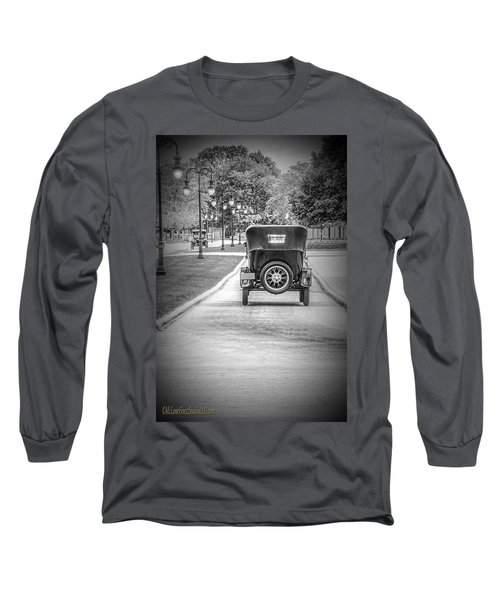 Model T Ford Down The Road Long Sleeve T-Shirt