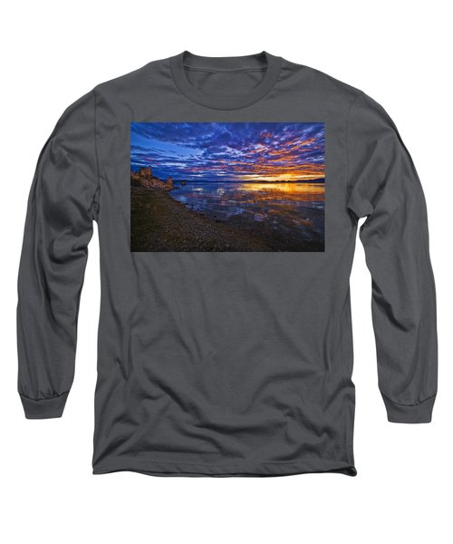 Long Sleeve T-Shirt featuring the photograph Mono Lake Sunrise by Priscilla Burgers