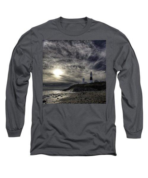 Montauk Point Lighthouse Long Sleeve T-Shirt