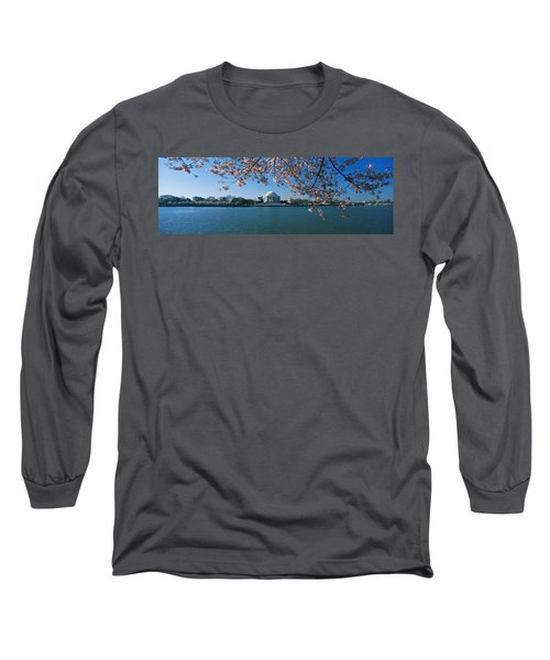 Monument At The Waterfront, Jefferson Long Sleeve T-Shirt by Panoramic Images