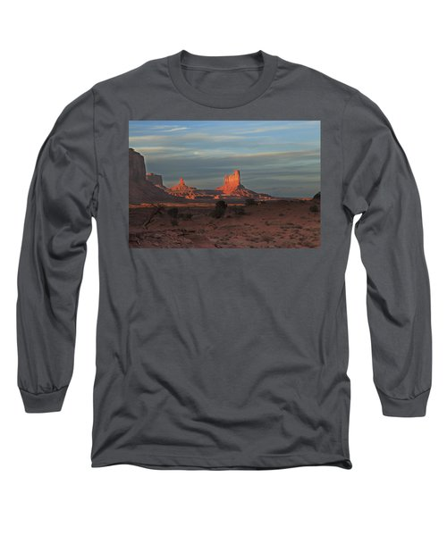 Long Sleeve T-Shirt featuring the photograph Monument Valley Sunset by Alan Vance Ley