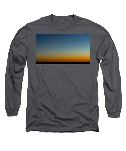 Moon And Venus I Long Sleeve T-Shirt by Marco Oliveira