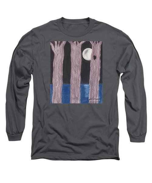 Moon Light Long Sleeve T-Shirt by David Jackson