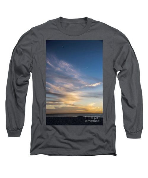 Moon Over Doheny Long Sleeve T-Shirt by Peggy Hughes