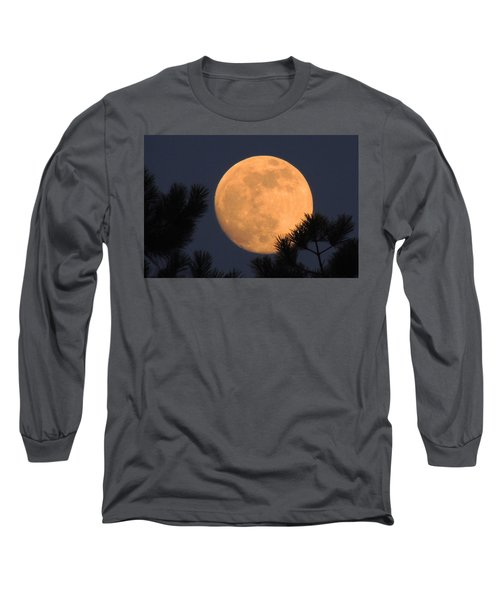 Long Sleeve T-Shirt featuring the photograph Moon Pines by Charlotte Schafer