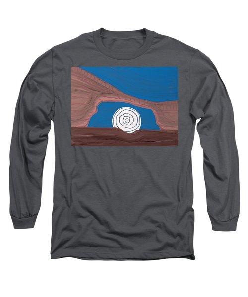 Moonscape Original Painting Long Sleeve T-Shirt