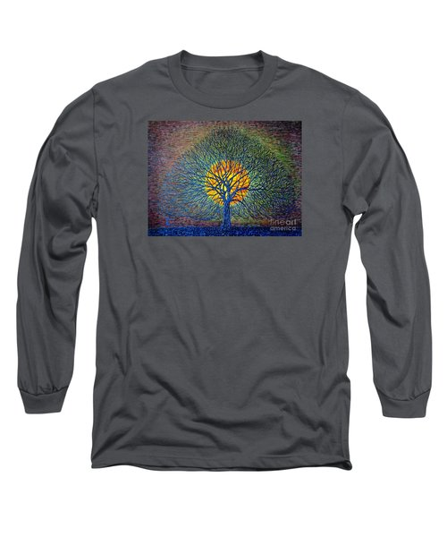Long Sleeve T-Shirt featuring the painting Moonshine by Viktor Lazarev