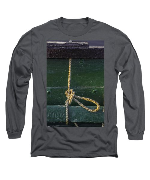 Long Sleeve T-Shirt featuring the photograph Mooring Hitch by Marty Saccone