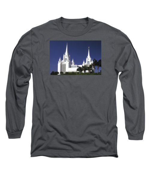 Mormon Temple Long Sleeve T-Shirt by Paul W Faust -  Impressions of Light