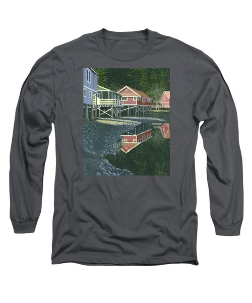 Long Sleeve T-Shirt featuring the painting Morning At Telegraph Cove by Gary Giacomelli