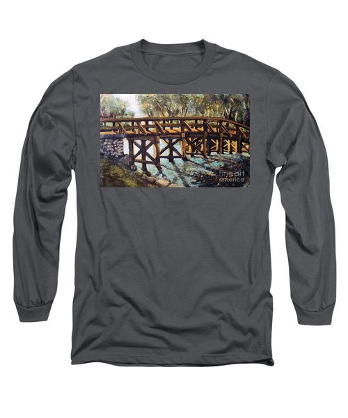 Morning At The Old North Bridge Long Sleeve T-Shirt