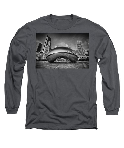 Morning Bean In Black And White Long Sleeve T-Shirt