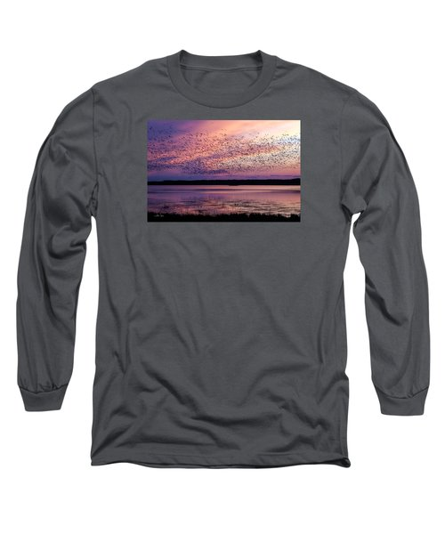 Long Sleeve T-Shirt featuring the photograph Morning Commute by Joan Davis
