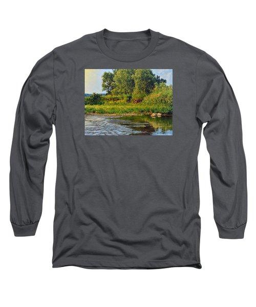 Morning Glow Long Sleeve T-Shirt by Bruce Morrison