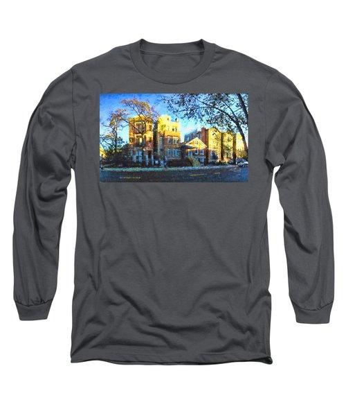 Morning In Bucktown Long Sleeve T-Shirt by Dave Luebbert