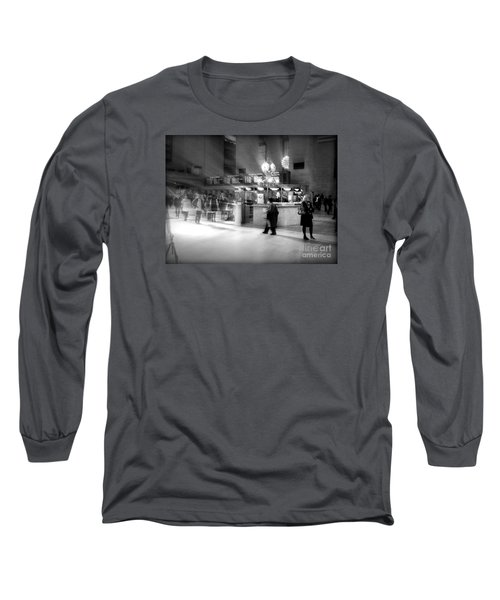 Morning In Grand Central Long Sleeve T-Shirt by Miriam Danar