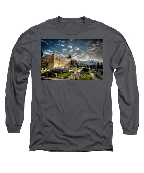 Morning In Jerusalem Hdr Long Sleeve T-Shirt