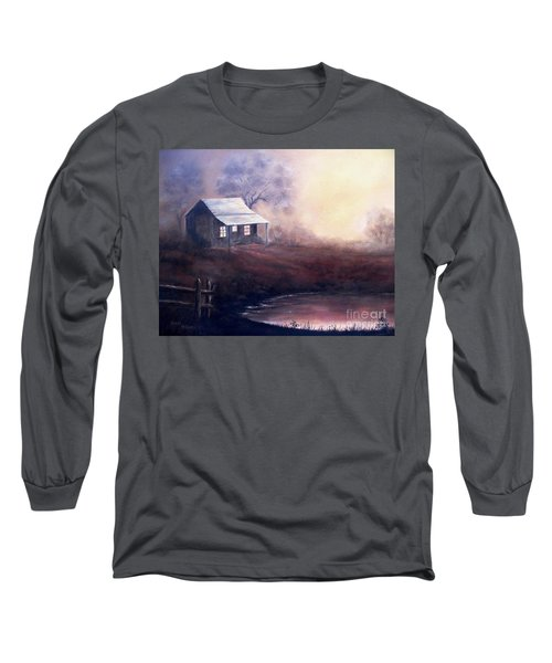 Long Sleeve T-Shirt featuring the painting Morning Reflections by Hazel Holland