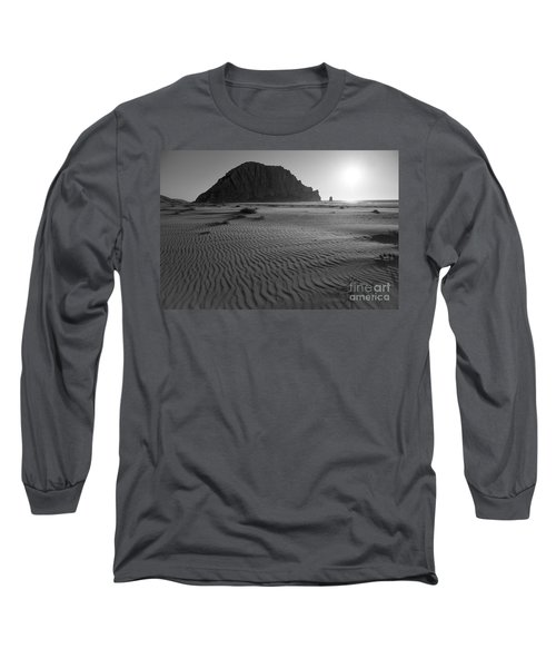 Morro Rock Silhouette Long Sleeve T-Shirt