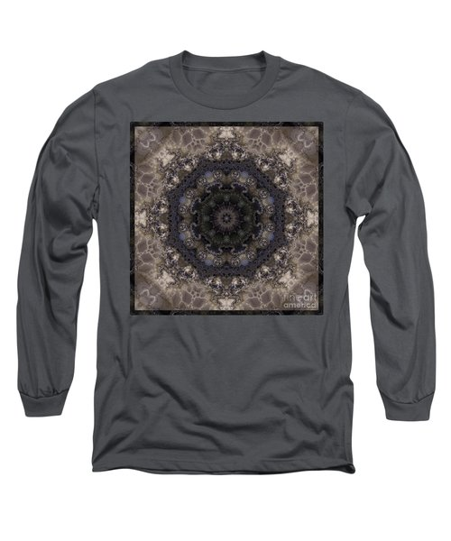 Mosaic Tile / Gray Tones Long Sleeve T-Shirt by Elizabeth McTaggart