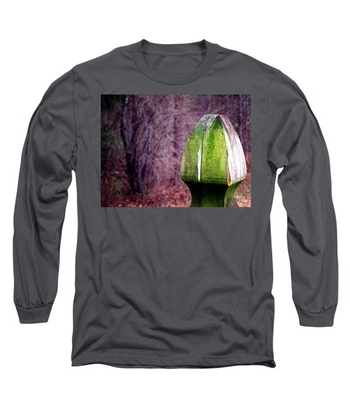 Long Sleeve T-Shirt featuring the photograph Mossy Post by Greg Simmons