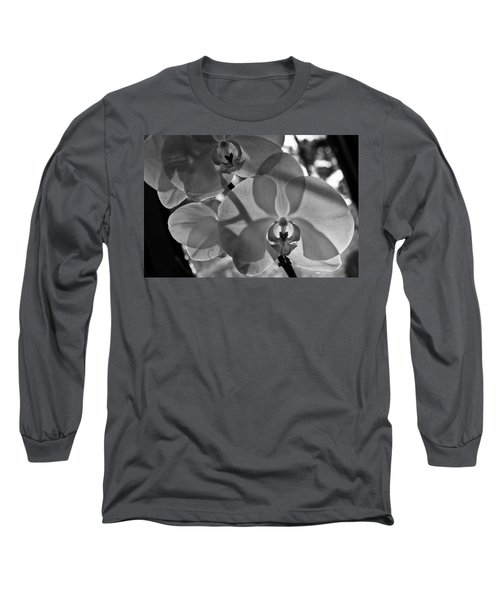 Long Sleeve T-Shirt featuring the photograph Moth Orchid Backlit by Ron White