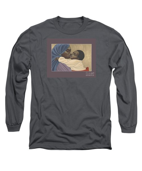 Long Sleeve T-Shirt featuring the painting Mother And Child Of Kibeho 131 by William Hart McNichols