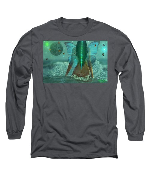 Mother Nature Long Sleeve T-Shirt by Michael Rucker