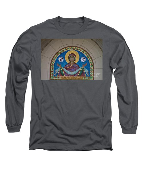 Mother Of God Mosaic Long Sleeve T-Shirt