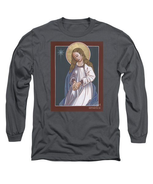 Mother Of God Waiting In Adoration 248 Long Sleeve T-Shirt by William Hart McNichols