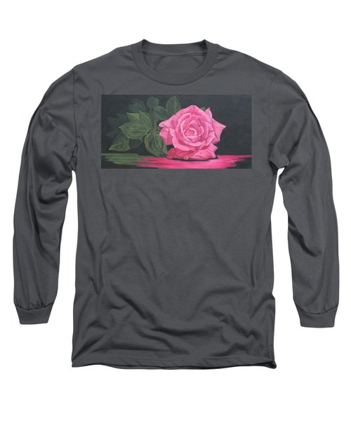 Mothers Day Rose Long Sleeve T-Shirt by Wendy Shoults