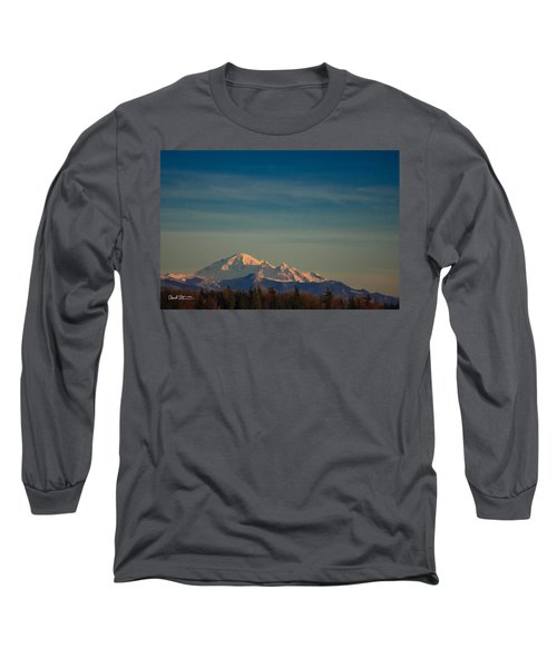 Mount Baker Sunset Long Sleeve T-Shirt by Charlie Duncan