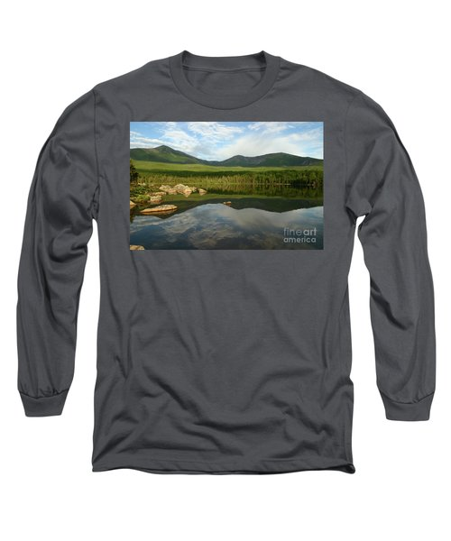 Long Sleeve T-Shirt featuring the photograph Mount Katahdin by Jeannette Hunt