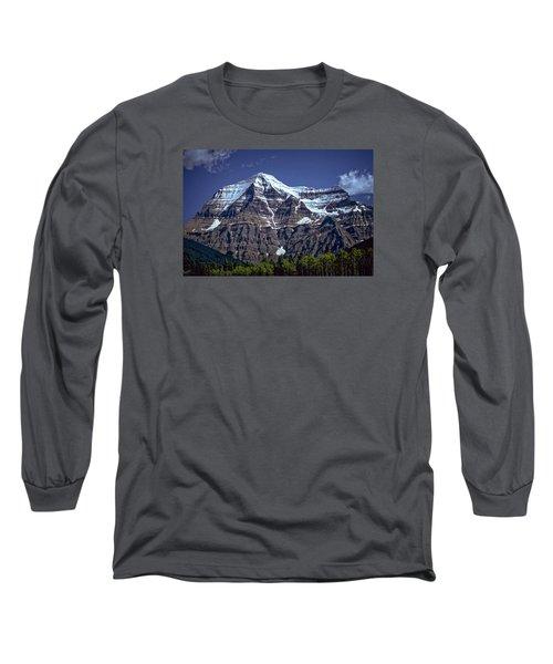 Long Sleeve T-Shirt featuring the photograph Mount Robson by Richard Farrington