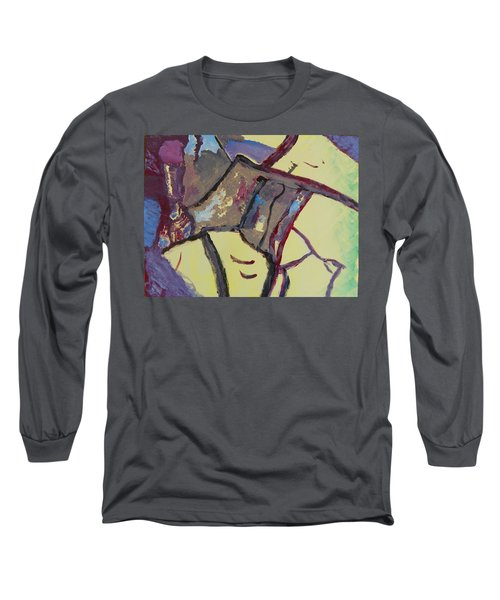 Mountain Antelope Long Sleeve T-Shirt by Lenore Senior