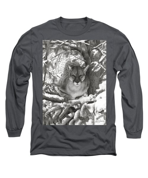 Mountain Lion Hideout Long Sleeve T-Shirt