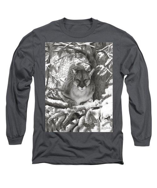 Mountain Lion Hideout Long Sleeve T-Shirt
