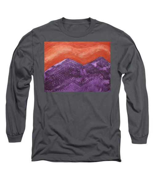 Mountain Majesty Original Painting Long Sleeve T-Shirt by Sol Luckman