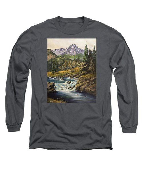 Mountain Of The Holy Cross Long Sleeve T-Shirt by Jack Malloch