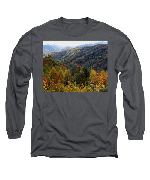 Mountains Leaves Long Sleeve T-Shirt