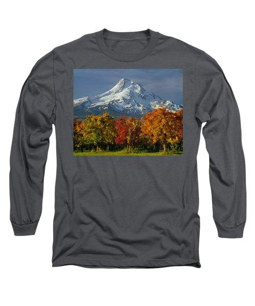 1m5117-mt. Hood In Autumn Long Sleeve T-Shirt