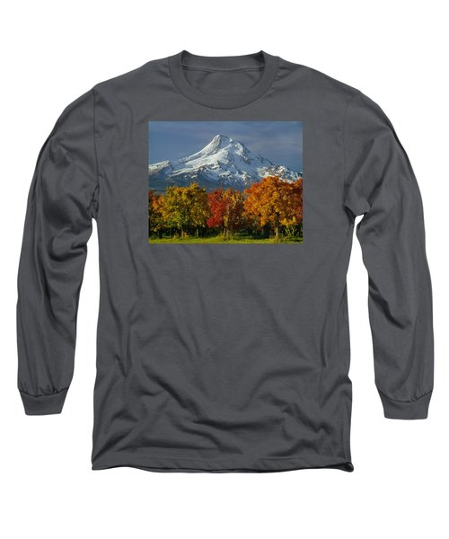 1m5117-mt. Hood In Autumn Long Sleeve T-Shirt